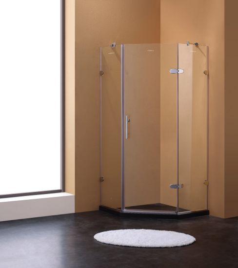China Diamond Shape Hinge Opening Shower Enclosure Shower Cubicle ...