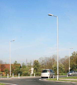 Square Lighting Galvanized Steel Lighting Pole