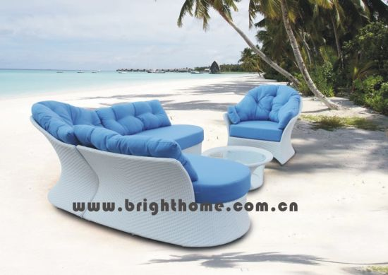 Outdoor Furniture / Wiker Furniture Sofa (BP-832) pictures & photos