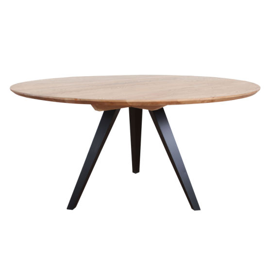 China Metal Round Oak Wood Industrial Dining Room Table China