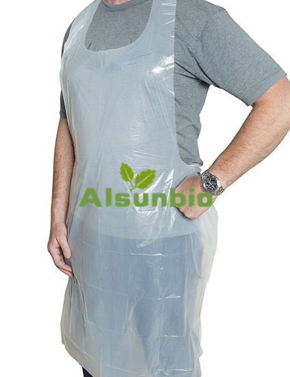 Clear Transparent Restaurant Kitchen Chef Poly PE LDPE Disposable Plastic Apron