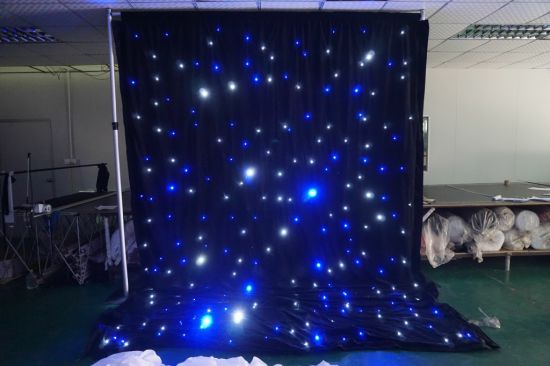 Wedding Decoration LED Star Curtain with Blue and White LED Lights pictures & photos