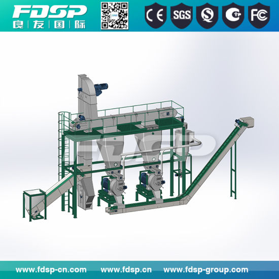 Bamboo Wood Sawdust Pellet Making Production Line pictures & photos