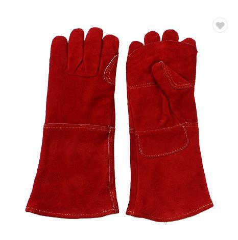 Reinforcement Hot Thread Sewing Heated Leather Welding Gloves