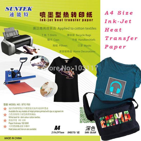 07c1a6988874c China Suntek Tension Dark Eco Solvent Heat Transfer Paper - China ...