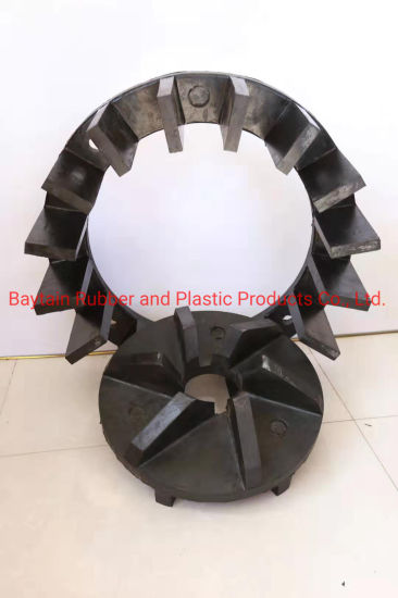 Wear Resistant and Corrosion Resistant Rubber Lined Metal Skeleton Stator and Rotor/ Impeller for Flotation Machine Agitator