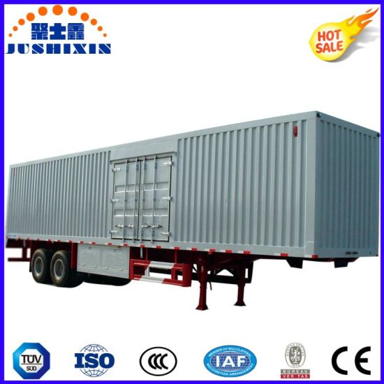 Factory Price 40ton Capacity Aluminium Wing Van/Box Utility Trailer with Electric Control Door pictures & photos
