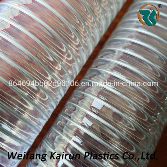 Transparent China PVC Spiral Steel Wire Reinforced Hose/ PVC Steel Spring Hose