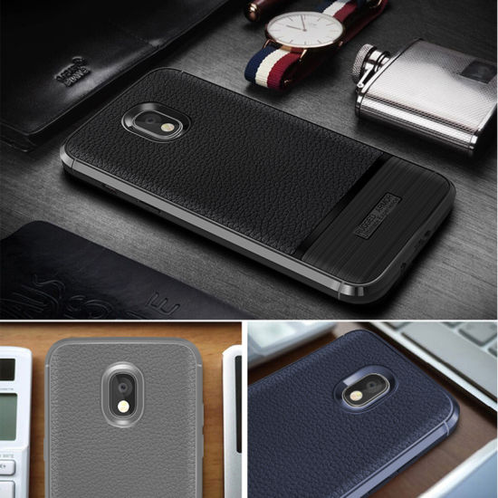 info for fc38e a73e3 TPU Soft Leather Pattern for Samsung Galaxy J7 PRO Case Dermatoglyph Back  Support Cover for J7 2017