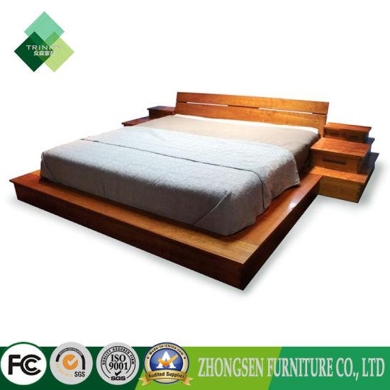 China Custom Made Modern Style Full Size Wood Platform Bed Frame