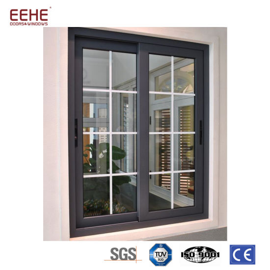Aluminium Sliding Windows And Doors With Grill Design