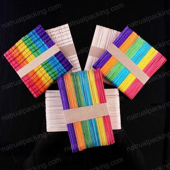 733292bd61 China Wooden Ice Cream Craft Sticks Custom Popsicle Sticks Paddle ...