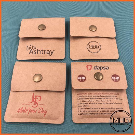 Customized Kraft Paper Cigarette Stub Pocket Ashtray