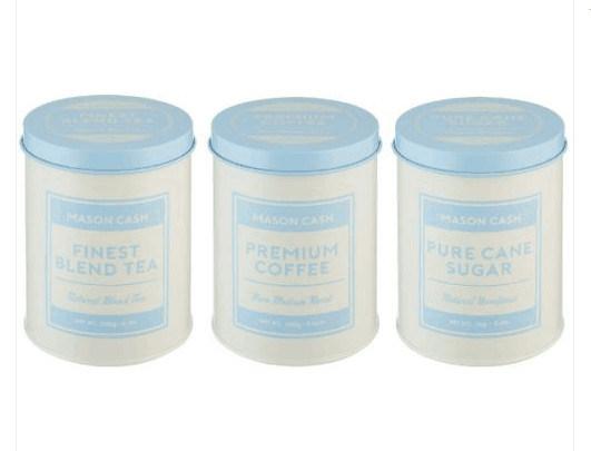 Tea Coffee Sugar Storage Tin Canister
