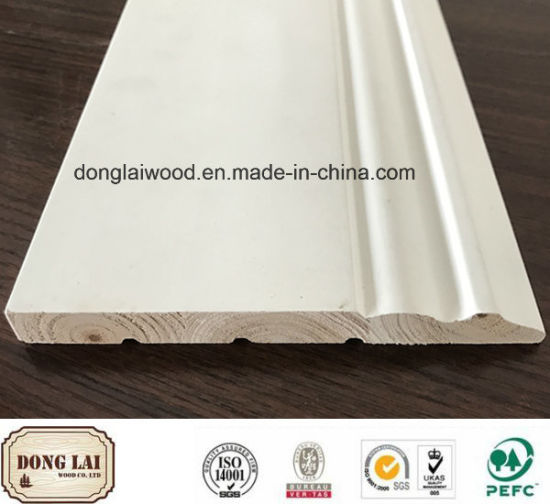 Building Material China Factory Supply High Quality Competitive Price OEM Waterproof White Primed Wood Skirting Board