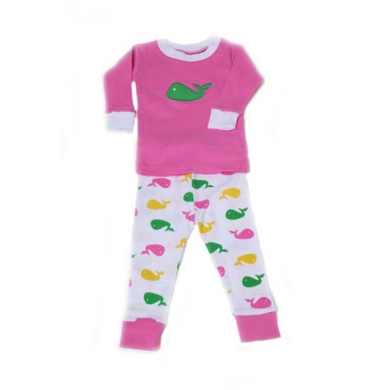 Pink Color Baby Girls Wear Baby Girls Sleepwear Nightwear