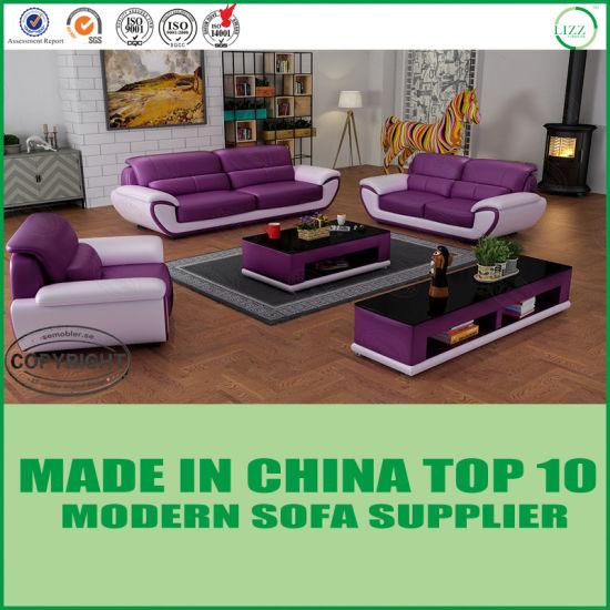 China Living Room Furniture Set Miami Leather Sofa - China ...