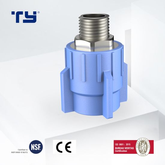 Factory Wholesale Best Price PPR/PVC/CPVC/Plastic Pipe Fitting Male Brass Threaded Coupling/Male Adapter