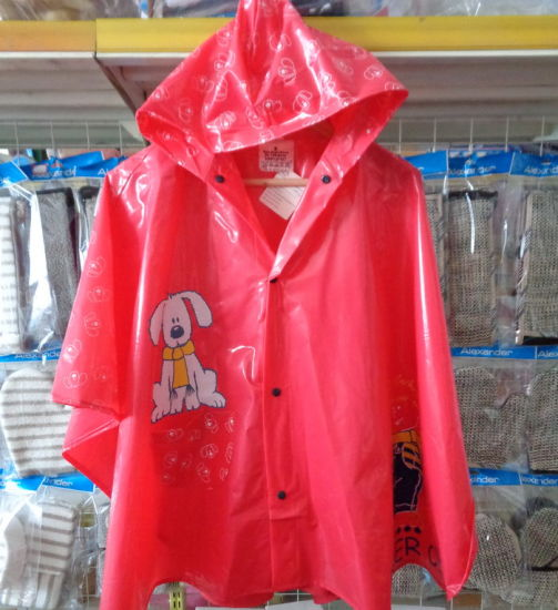 PVC Kids Poncho Cute Wholesale Rain Coat Raincoat