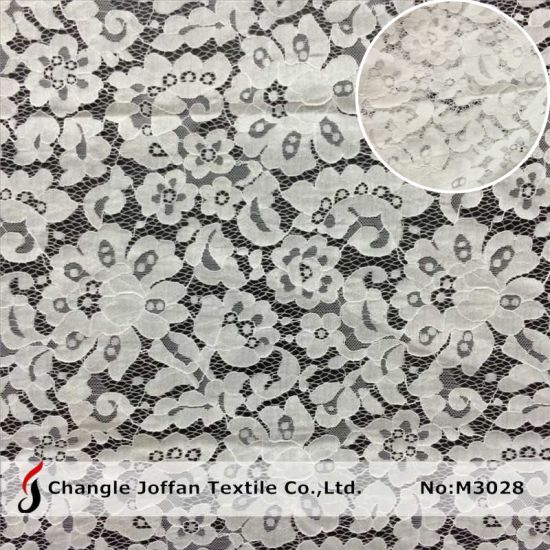 Fashion Textile Fabric Cotton Lace Fabric Wedding Dress Lace (M3028)