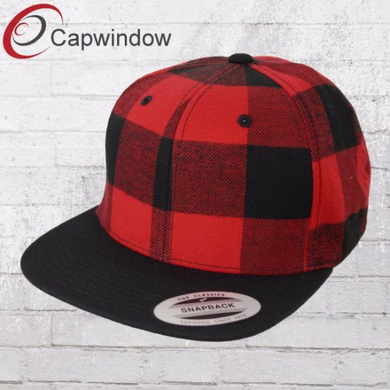 9fb8c6665bee5 China 100% Cotton Flaid Flexfit Plain Snapback Cap Hat - China ...