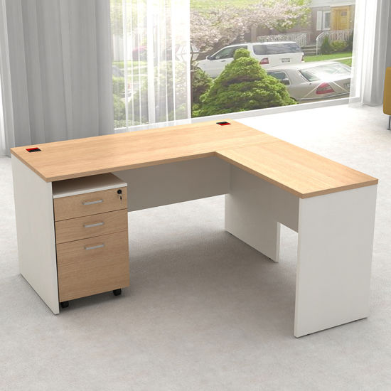 Modern Mfc Home Office L Shape Corner Computer Desk Table