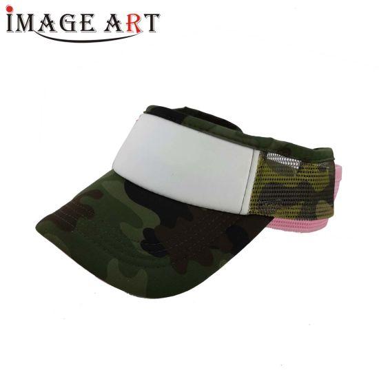 Sun Visor Cotton Sublimation Sport Cap for Personal Custom Logos (Camouflage)