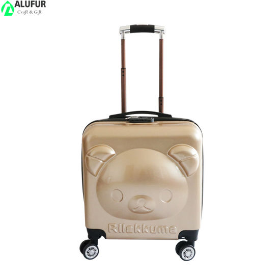 """18"""" Cute Animal 3D Pop up Hardside Spinner Carry on Luggage"""