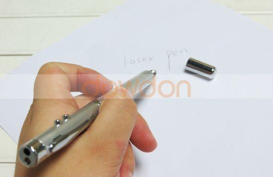 4 in 1 Laser Metal Ballpoint Pen/& LED torch Telescopic Pointer Teaching stick