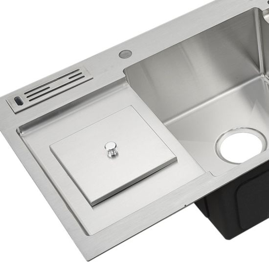 China Usa Uk Multifunction R10 16gauge 33 Big Sinks Drop In Cabinet One Two Wash Basin Stainless Steel Finish Sink Glitter Glisten Handcraft With Cutting Board China Multifunction Kitchen Sink With