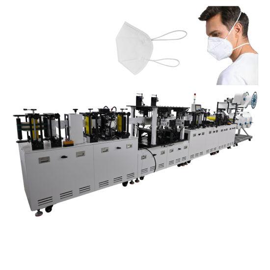 Fully Automatic KN95 Mask with Head Strap Mask Making Machine 60 PCS / Min