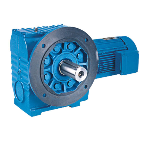 Foot Mounted Helical Worm Gear Speed Reducer with Solid Shaft Gearbox
