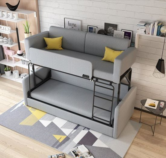 China Sofa Bed Smart Furniture Up And Down Bed Double Small Family Folding Sofa Multi Function Cloth Art Sofa Bed Dual Use China Living Room Sofa Leather Sofa