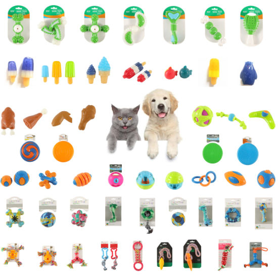 Free Sample Wholesale Multicolor Durable Bite Resistant Pet Rubber TPR Toy Safe and Natural Pet Dog Rubber Ball Toy Dog Product