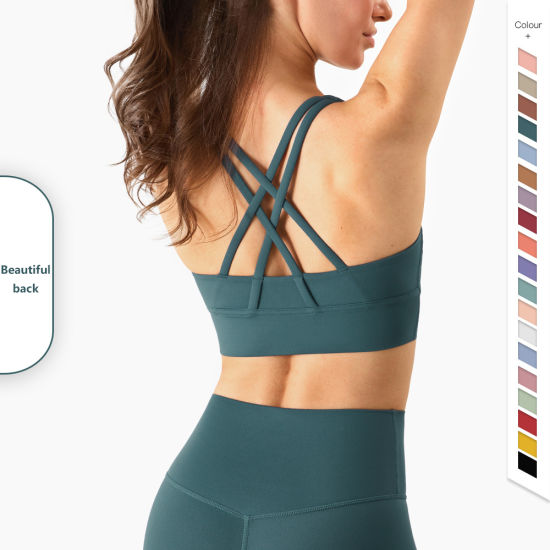 Wholesale Fashion Cross Strap Fitness Yoga Sports Underwear Customized Sports Bra