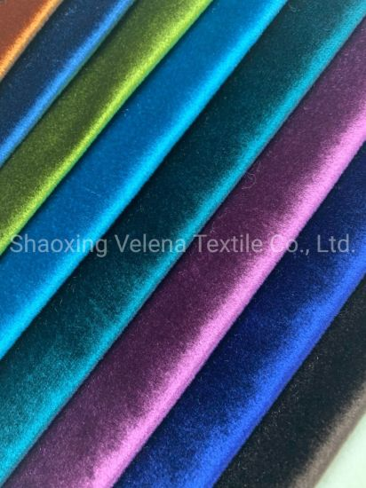 Plain Design 100% Polyester Velvet Fabric for Curtain and Sofa Waterproof
