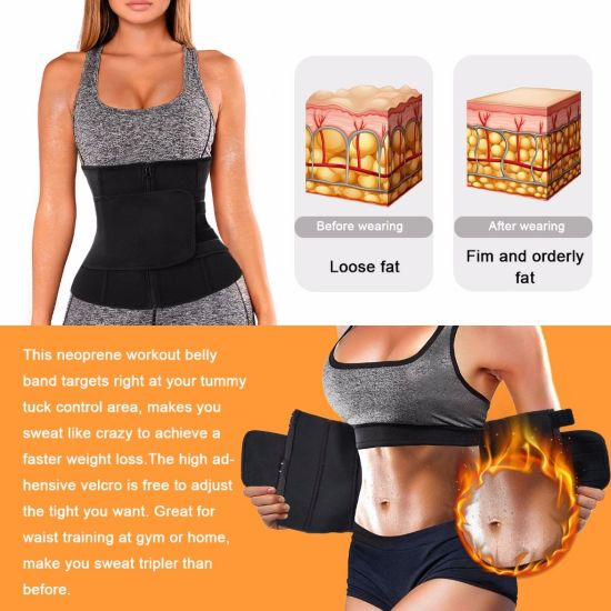 China Traininggirl Women Waist Trainer Cincher Belt Tummy Control Sweat Girdle Workout Slim Belly Band For Weight Loss China Sports Trimmer And Waist Trimmer Price
