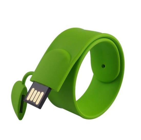 Custom Wholesale Creative Gifts Business Wrist U Disk Silicagel Bracelet Custom Logo USB Flash Drive USB Pen Drive