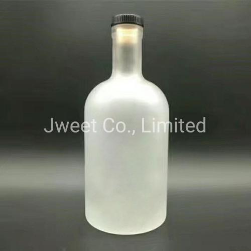 Round Super Flint Glass Acid Etch 750ml Brandy Bottle