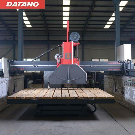 Datang Infrared Hydraulic Four Column PLC Diamond Blade Bridge Saw