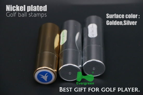 Circle Indelible High Quality Ink Nickel Plated Golf Ball Stamps