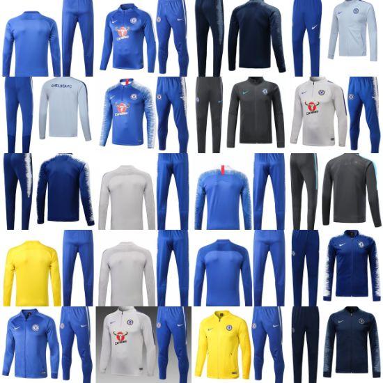 new concept 427ac ec0eb Customized C-H-E-L-S-E-a Football Soccer Long Sleeve Tracksuit Sweatshirt  Training Suits