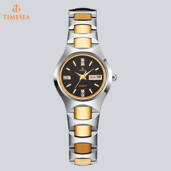 Business Couple Watches Diamond Waterproof Tungsten Steel Watch