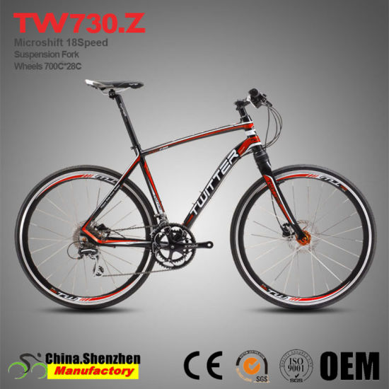 16speed 700c*28c 48cm 50cm Frame Size Suspension City Road Bicycle