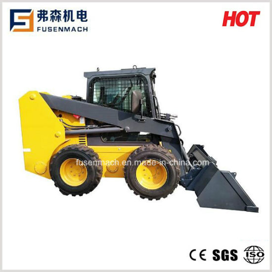Ce Skid Loader Jc65g with Loading Capacity 950kg (Rexroth hydraulic pump)