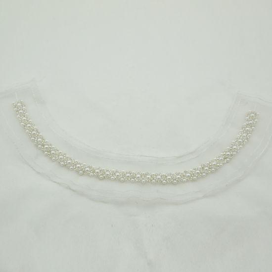 Fashion Beaded Pearl Mech Neckline for Garments