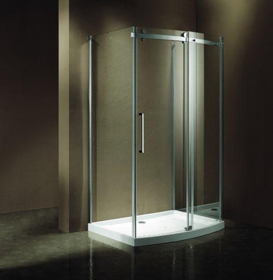 Corner Shower Sliding Door.Popular Corner Shower Room With Bow Front Sliding Door Panel