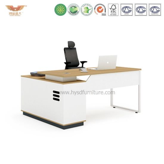 New Fashion Design Office Manager Melamine Office Desk with L Shape Return (H90-0102) pictures & photos