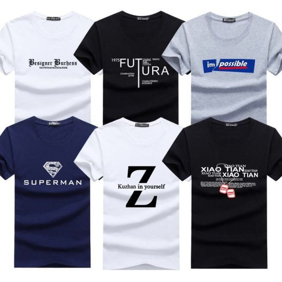 Custom Cotton Wholesale Men′ S Good Quality T Shirt Clothing with Printing Fast Delivery