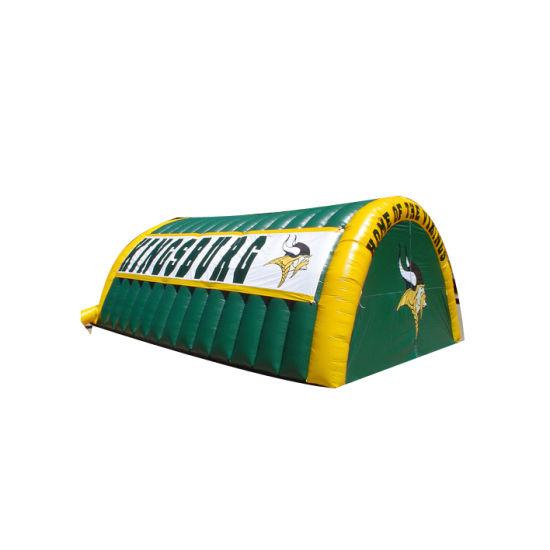 Popular Helmet Tent Inflatable Mascot Blast Tunnel for Sport Team